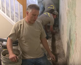 Foundation Crack Repair Holly MI - Basement Wall Repair - Now Dry - foundationrepair1